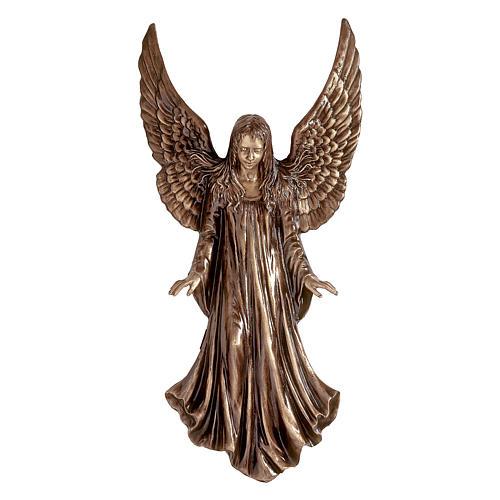 Statua Angeli parete bronzo 110 cm per ESTERNO 1