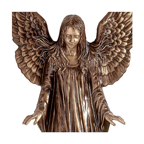 Statua Angeli parete bronzo 110 cm per ESTERNO 2