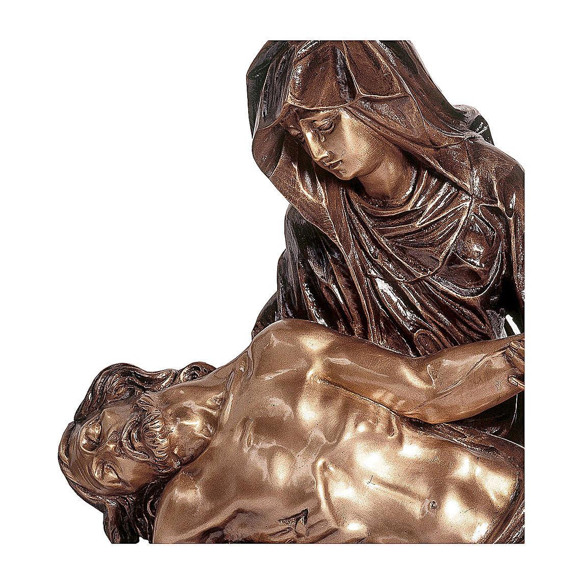 Statua Pietà bronzo 60 cm per ESTERNO 4