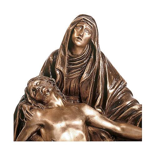 Statua in bronzo Pietà 45 cm per ESTERNO 2