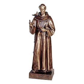 Statue of St Francis of Assisi in bronze 110 cm for EXTERNAL USE s1