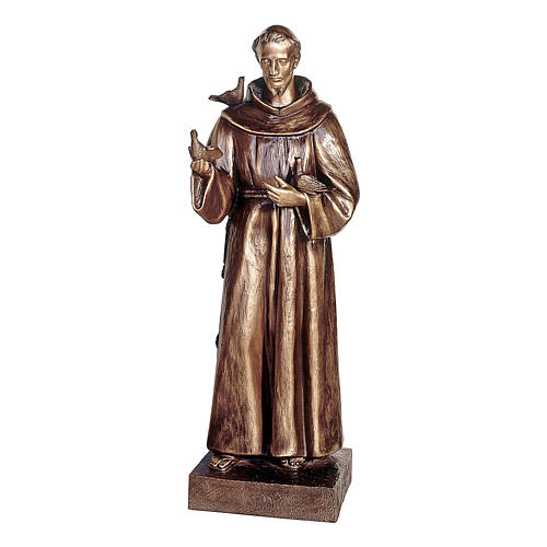 Statue of St Francis of Assisi in bronze 110 cm for EXTERNAL USE 1