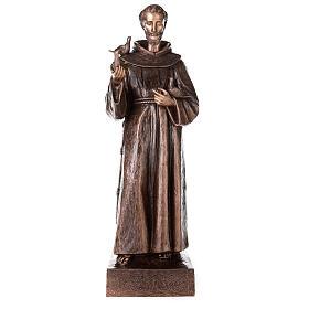 Statua San Francesco d'Assisi bronzo 110 cm per ESTERNO
