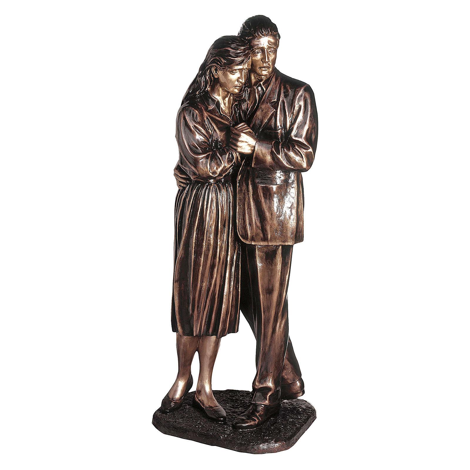 Statua in bronzo coppia addolorata 170 cm per ESTERNO 4