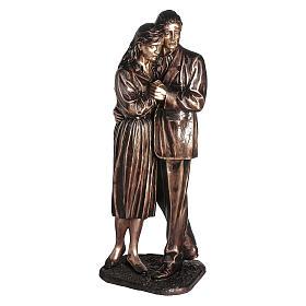 Statua in bronzo coppia addolorata 170 cm per ESTERNO s1