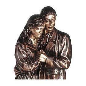 Statua in bronzo coppia addolorata 170 cm per ESTERNO s2