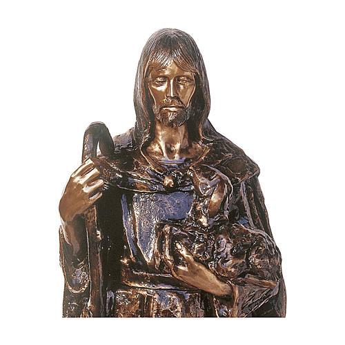 Statua Gesù Buon Pastore bronzo 130 cm per ESTERNO 2
