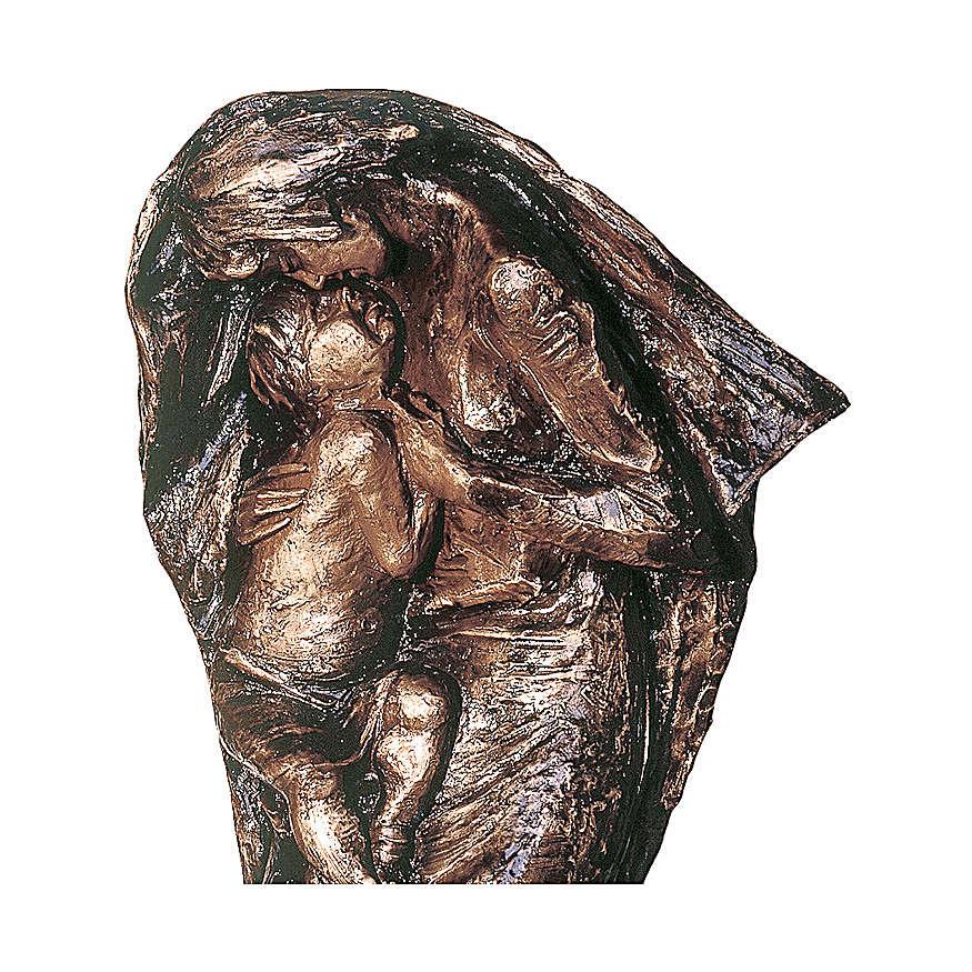 Statua Vergine Eleousa in bronzo 185 cm per ESTERNO 4