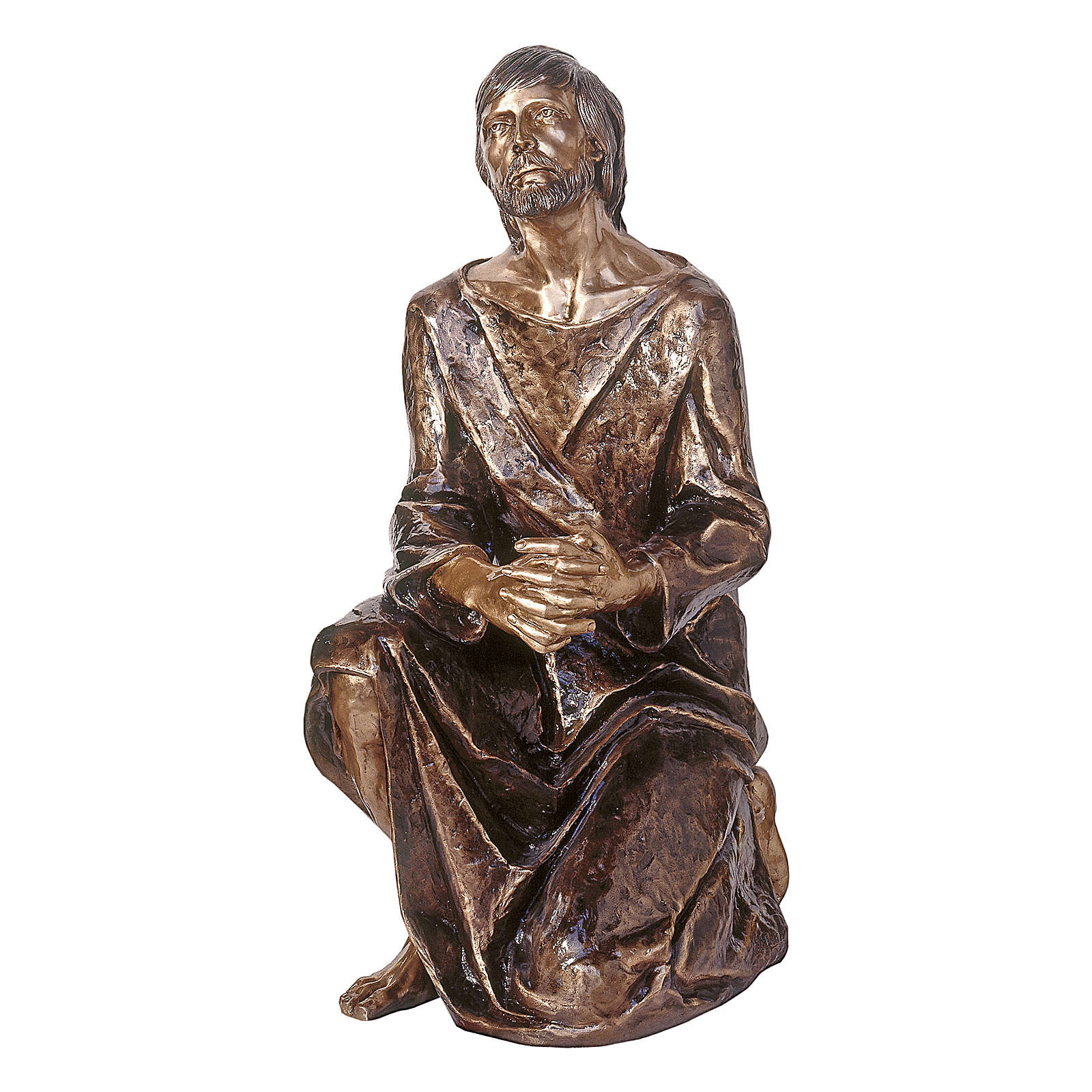 Statue of Christ in the Gethsemane in bronze 120 cm for EXTERNAL USE 4