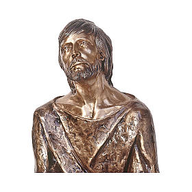 Statue of Christ in the Gethsemane in bronze 120 cm for EXTERNAL USE s2