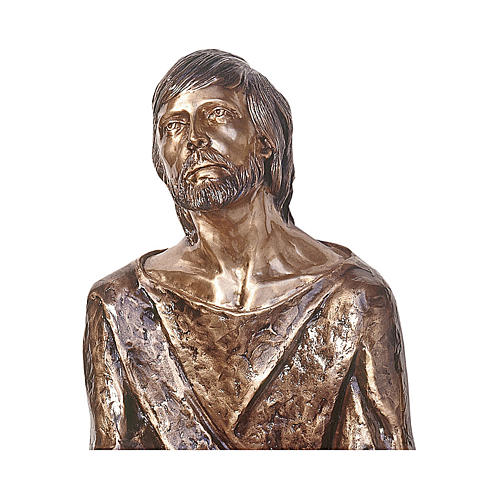 Statue of Christ in the Gethsemane in bronze 120 cm for EXTERNAL USE 2