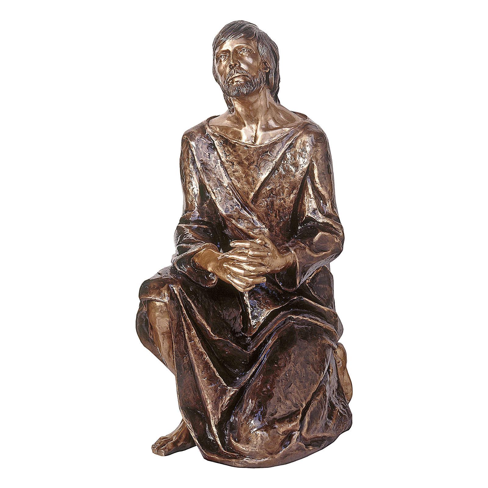 Statua Cristo nel Getsemani in bronzo 120 cm per ESTERNO 4