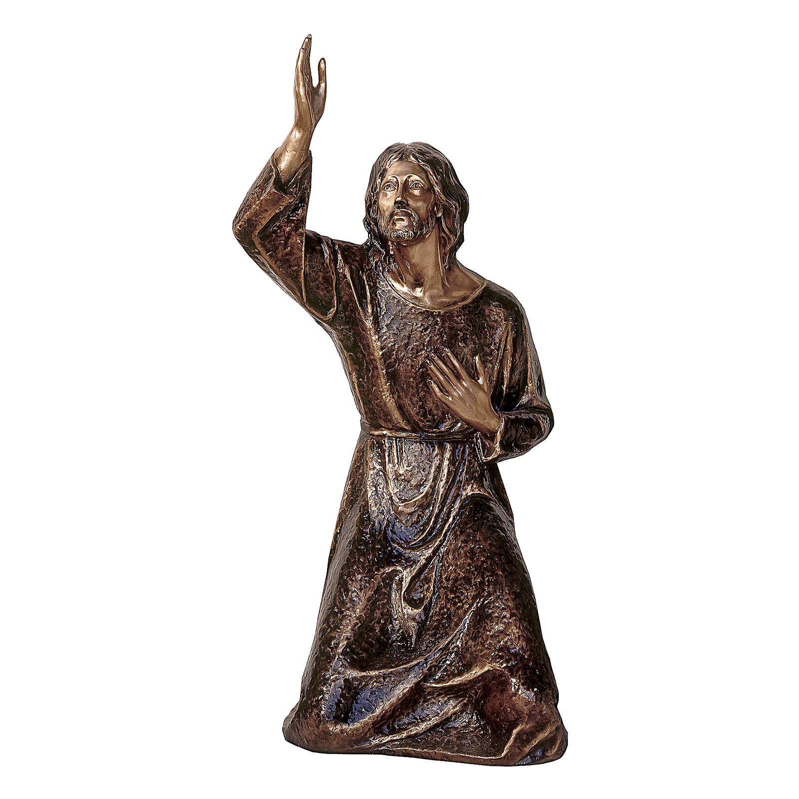 Statua Gesù nell'orto bronzo 115 cm per ESTERNO 4