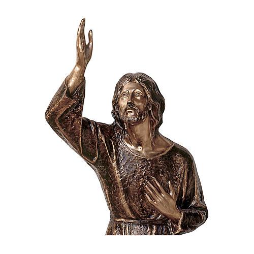 Statua Gesù nell'orto bronzo 115 cm per ESTERNO 2
