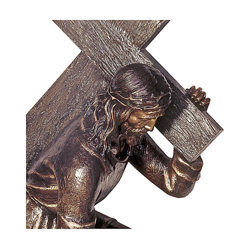 Statua Cristo Via Crucis bronzo 140 cm per ESTERNO 2