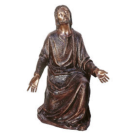 Statue of Jesus in the vegetable garden in bronze 105 cm for EXTERNAL USE s1