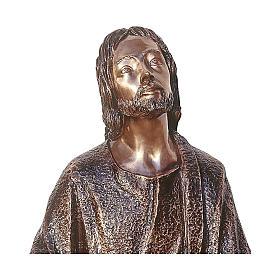 Statue of Jesus in the vegetable garden in bronze 105 cm for EXTERNAL USE s2
