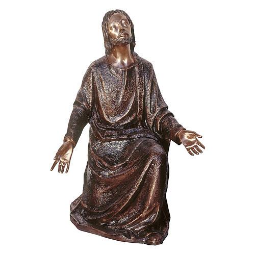 Statue of Jesus in the vegetable garden in bronze 105 cm for EXTERNAL USE 1