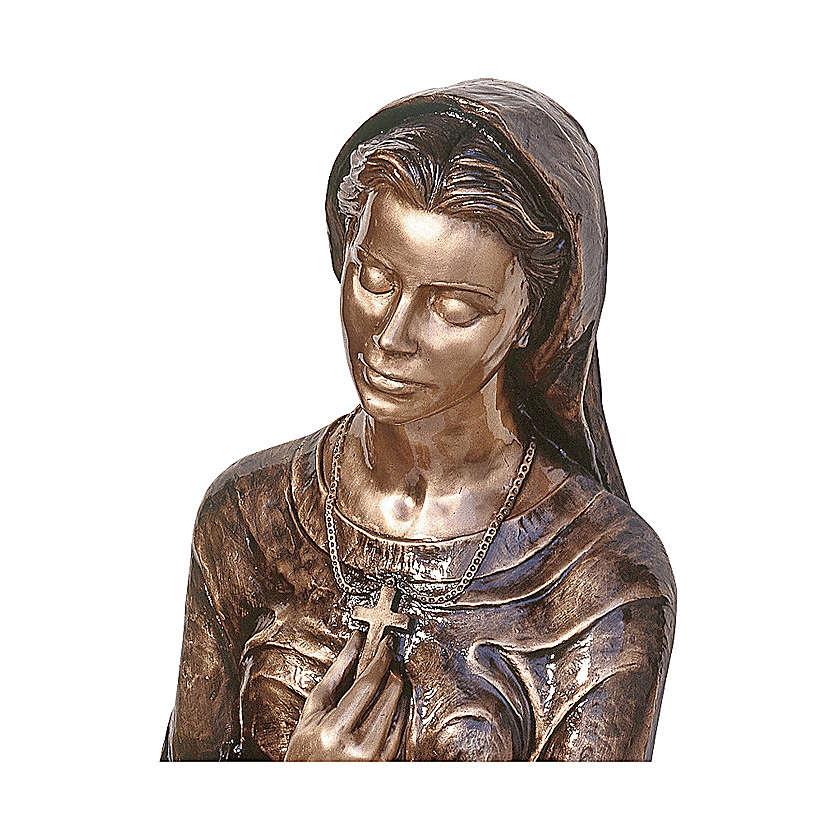 Statua bronzea Donna genuflessa 110 cm per ESTERNO 4