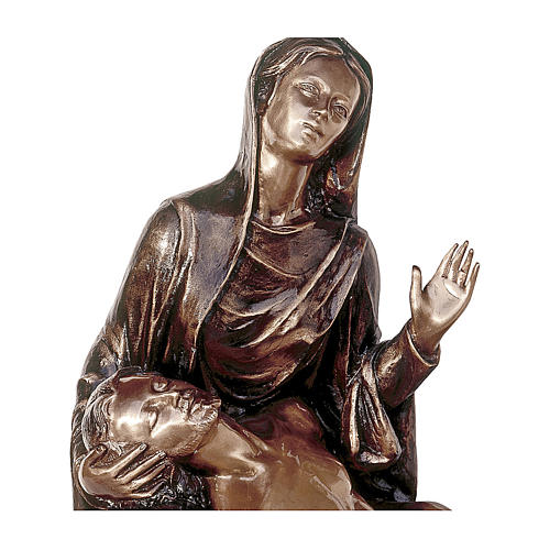 Funerary statue of the Piety in bronze 55 cm for EXTERNAL USE 2