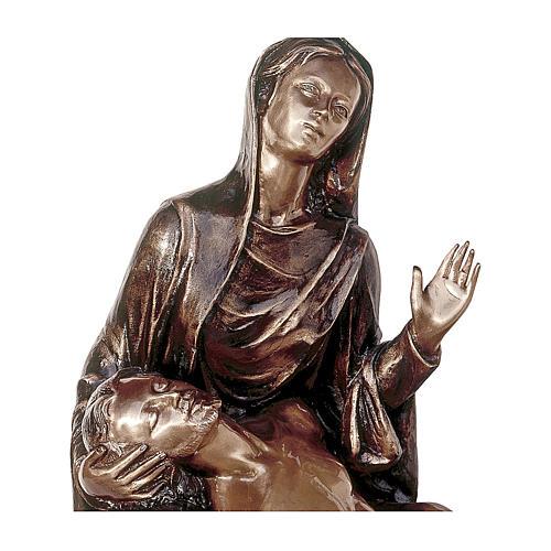 Statua funeraria Pietà in bronzo 55 cm per ESTERNO 2