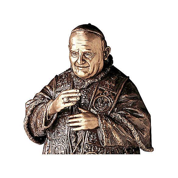 Statue of Pope John XXIII in bronze 65 cm for EXTERNAL USE 4