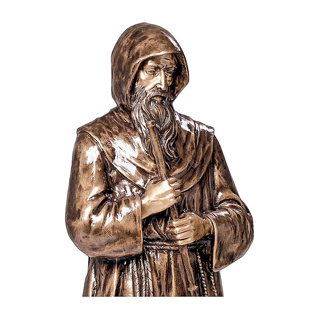 Statua S. Francesco da Paola in bronzo 180 cm per ESTERNO 4