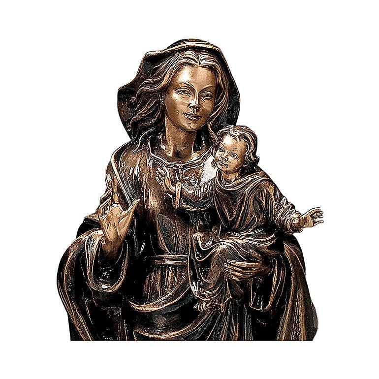 Statua Madonna col Bambino bronzo 65 cm per ESTERNO 4