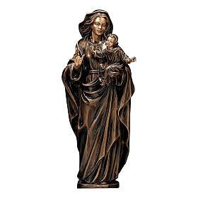 Statua Madonna col Bambino bronzo 65 cm per ESTERNO s1