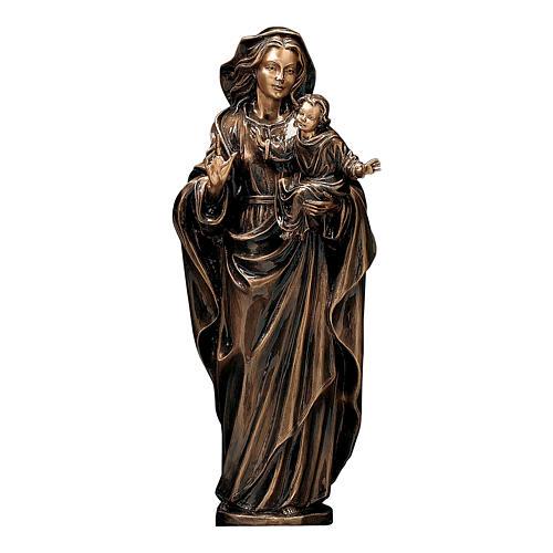 Statua Madonna col Bambino bronzo 65 cm per ESTERNO 1