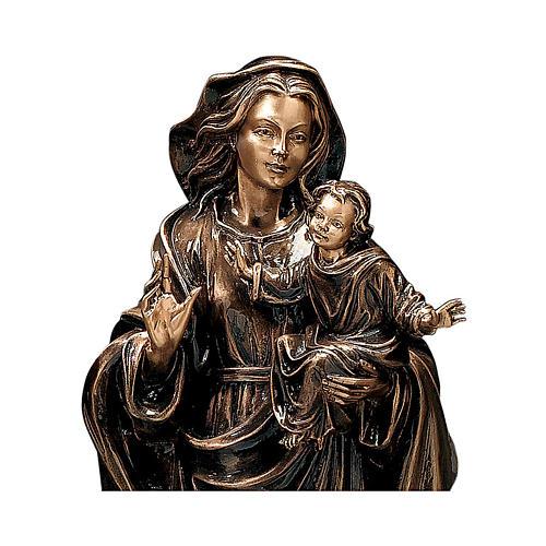 Statua Madonna col Bambino bronzo 65 cm per ESTERNO 2