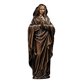 Statue of the Immaculate Virgin in bronze 65 cm for EXTERNAL USE s1