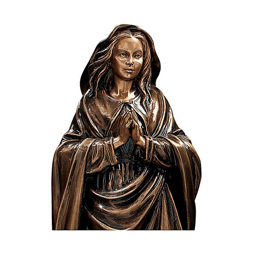 Statue of the Immaculate Virgin in bronze 65 cm for EXTERNAL USE 2