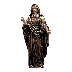 Statue of Christ the Saviour in bronze 60 cm for EXTERNAL USE s1