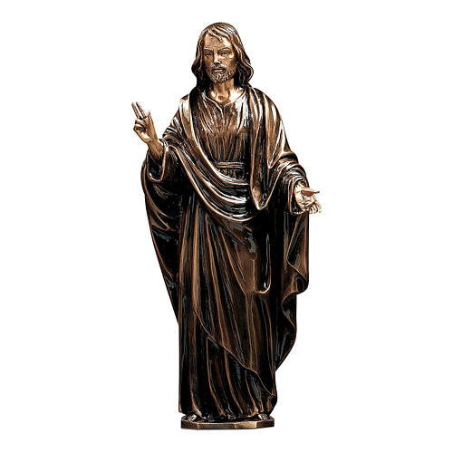 Statue of Christ the Saviour in bronze 60 cm for EXTERNAL USE 1