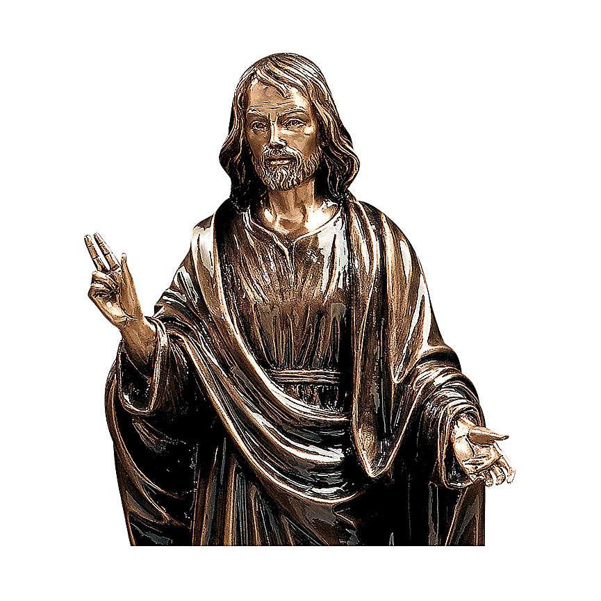 Statua Cristo Salvatore bronzo 60 cm per ESTERNO 4