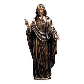 Statua Cristo Salvatore bronzo 60 cm per ESTERNO s1