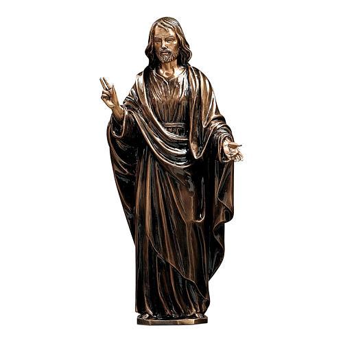 Statua Cristo Salvatore bronzo 60 cm per ESTERNO 1