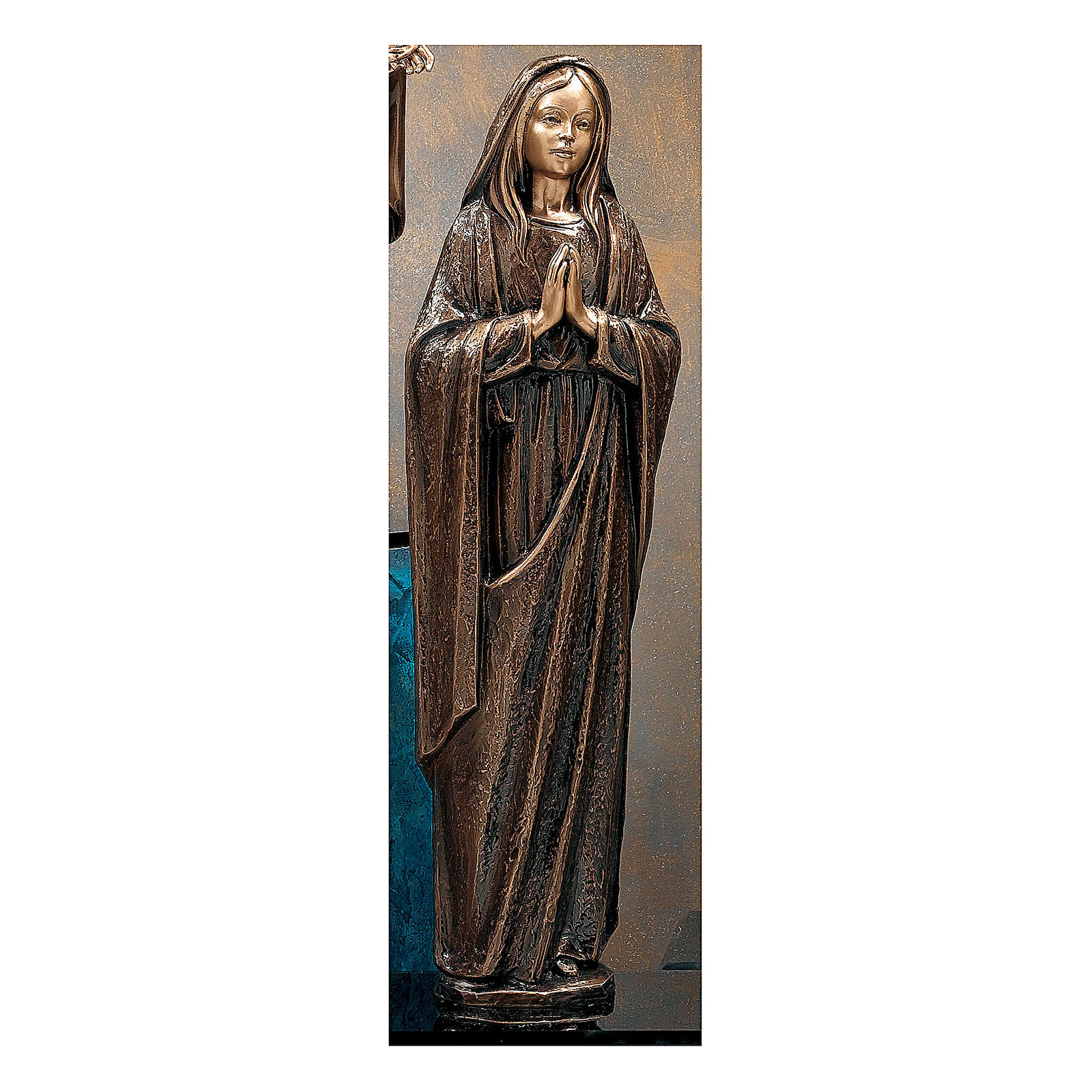 Statue of the Virgin Mary in bronze 65 cm for EXTERNAL USE 4