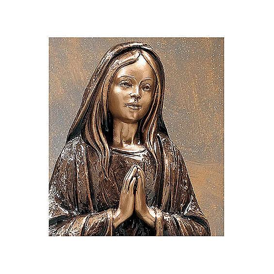 Statua Santa Maria Vergine bronzo 65 cm per ESTERNO 4