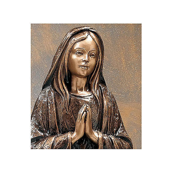Holy Virgin Mary Bronze Statue 65 cm for OUTDOORS 4