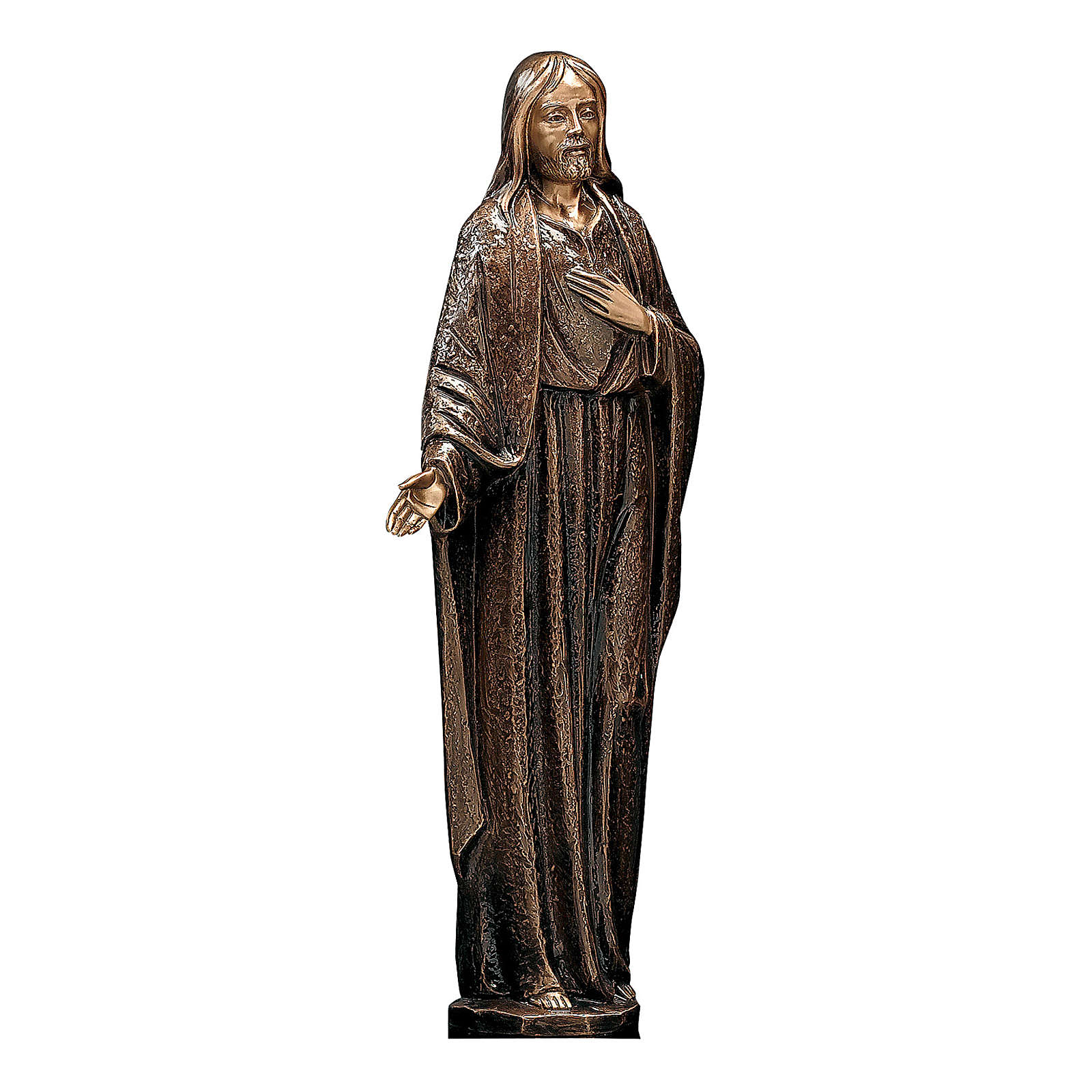Bronze Statue of Merciful Jesus 65 cm for OUTDOORS 4