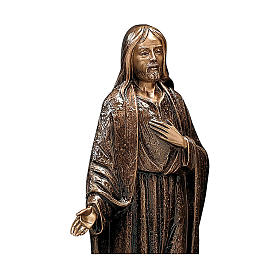Bronze Statue of Merciful Jesus 65 cm for OUTDOORS s2
