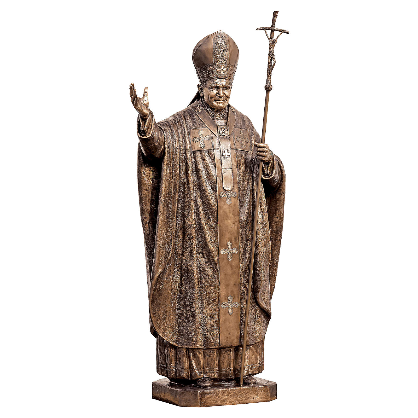 Statue of Pope John Paul II in bronze 215 cm for EXTERNAL USE 4