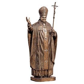 Statue of Pope John Paul II in bronze 215 cm for EXTERNAL USE s1