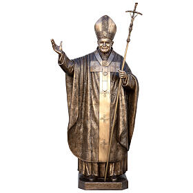 Statue of Pope John Paul II in bronze 215 cm for EXTERNAL USE s1