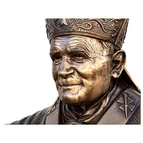 Statue of Pope John Paul II in bronze 215 cm for EXTERNAL USE s2