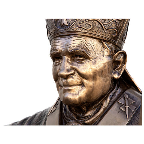 Statue of Pope John Paul II in bronze 215 cm for EXTERNAL USE 2