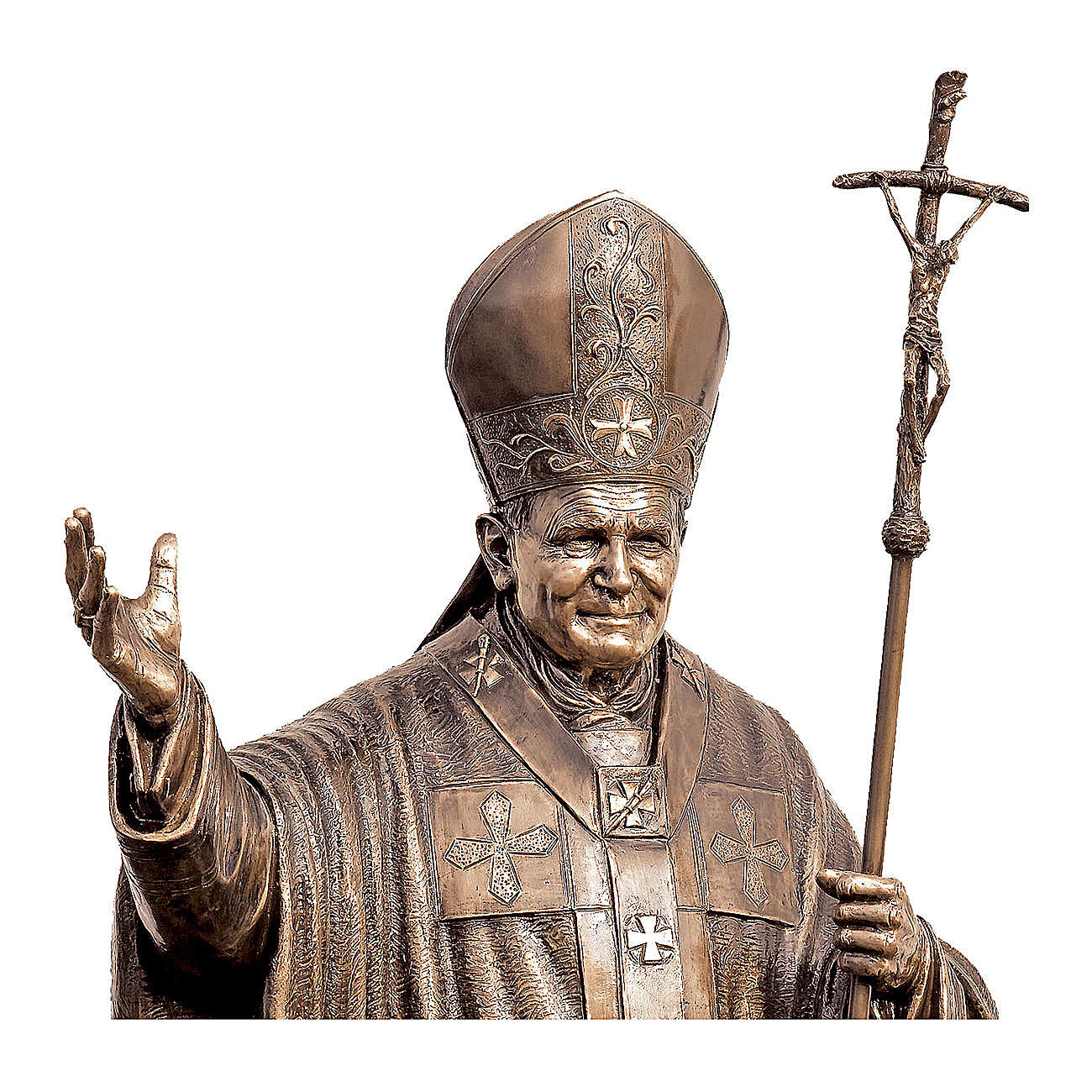 Estatua Papa Juan Pablo II bronce 215 cm para EXTERIOR 4