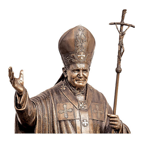 Estatua Papa Juan Pablo II bronce 215 cm para EXTERIOR 2